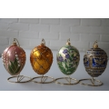 Christmas ornaments Faberge inspired collection 4 different ones