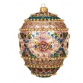 Faberge christmas ornament Mosaic Egg, 10cm