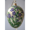 Christmas ornament Faberge Pansy Egg 10cm