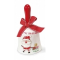 Christmas bell santa claus, ceramic