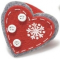 Christmas felt napkin ring, heart