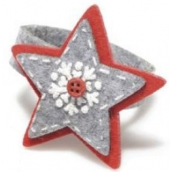 Christmas felt napkin ring, star
