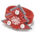Christmas felt napkin ring, christmas tree
