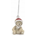 Christmas ornament, teddy bear, resin