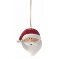 Christmas ornament, santa, ceramic