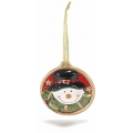 Christmas ornament, snowman, ceramic