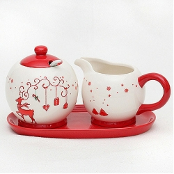 Christmas Milk and Sugar Set