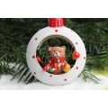 Christmas tree ornament, 8cm diameter, plastic