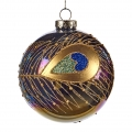 peacock christmas ornament
